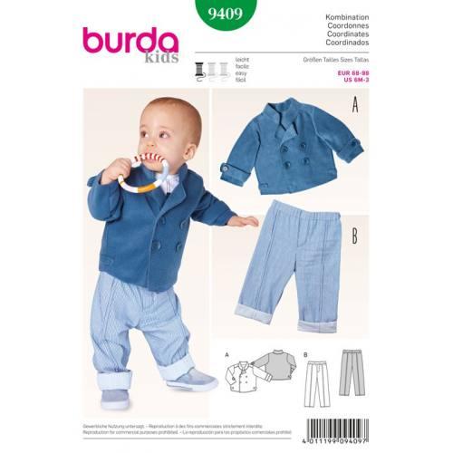 Patron N°9409 Burda Kids : Ensemble Taille: 68cm à 98cm