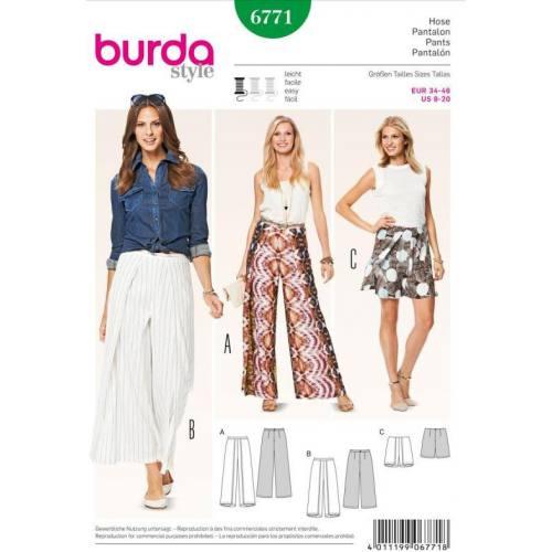 Patron N°6771 Burda Style : Pantalon, shortTaille: 34-46