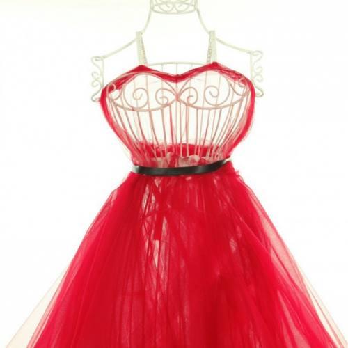 Tulle rouge pour robe de mariée grande largeur