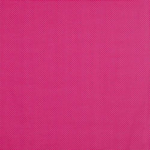 Coton fuchsia à petit pois 1mm