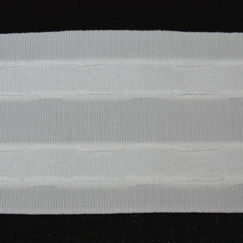Ruban Fronceur blanc - 70mm