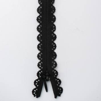 Fermeture dentelle noire 22cm col580