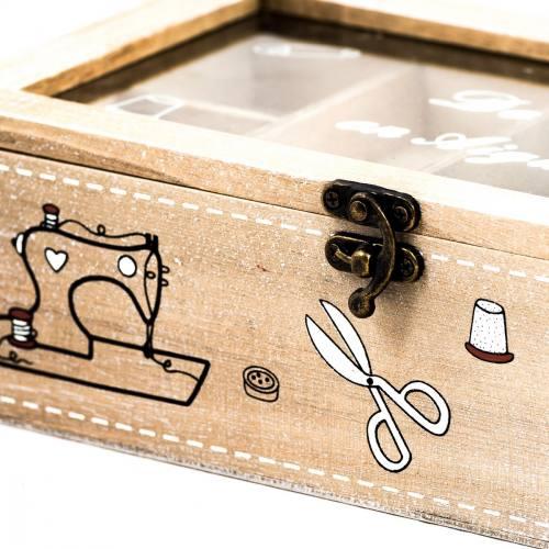 Cadeaux pas chers for Boite a couture sur pieds bois