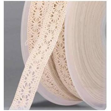 Ruban de dentelle coton écru 15mm
