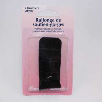 Rallonge de soutiens-gorge noire 28mm