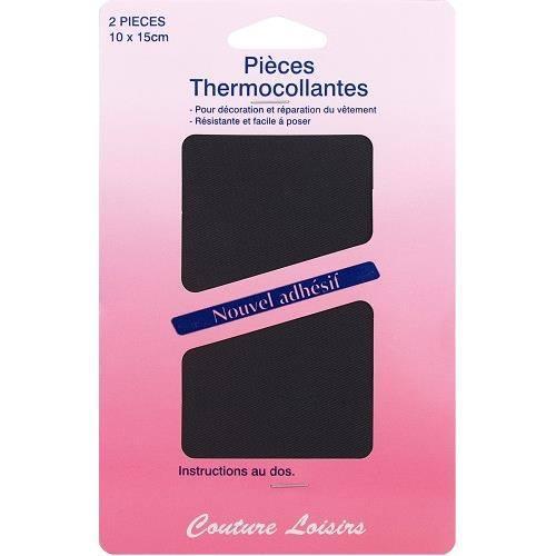 Pièces thermocollantes - Gris foncé X2