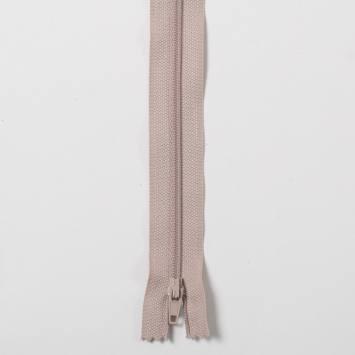 Fermeture 30cm Polyester non séparable beige 156