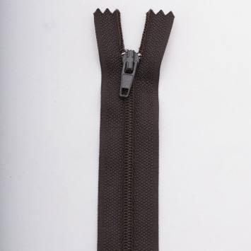 Fermeture 15 cm polyester non séparable marron Col 161