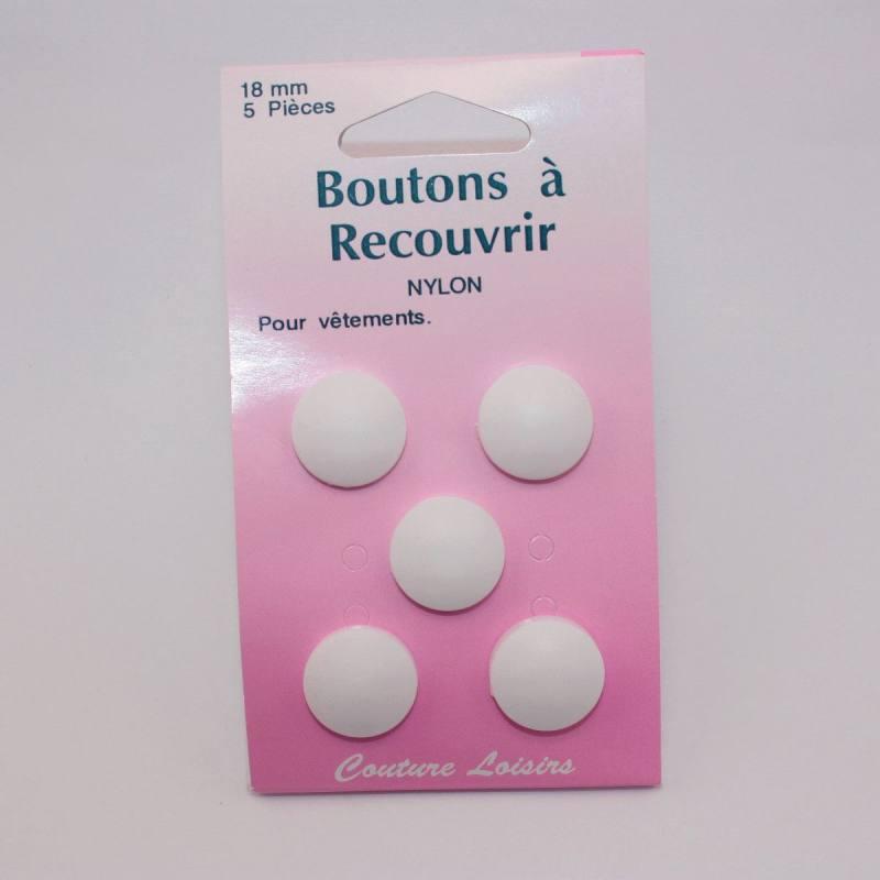 Boutons nylon N°18 à recouvrir X5