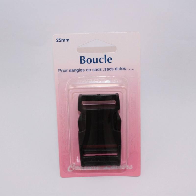 Boucle pour sangle col. noir Taille 25mm