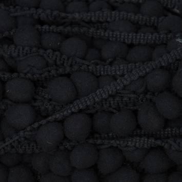 Galon pompon 15 mm noir