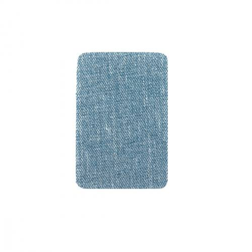 Pièces thermocollantes rectangle jeans délavé X2