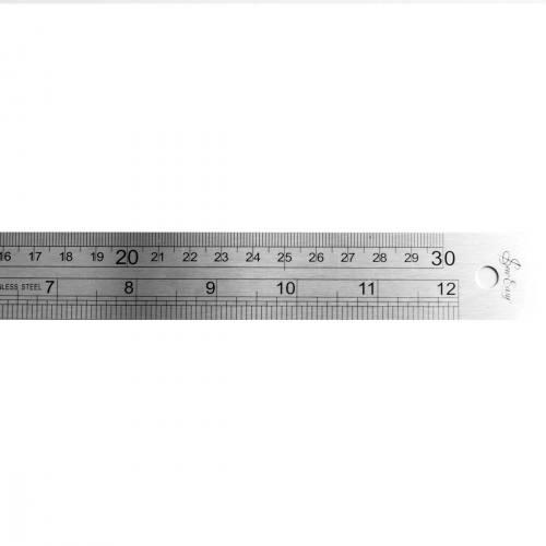 Réglet métal 30 cm