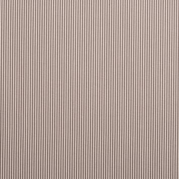 Coton taupe fines rayures blanches 3mm