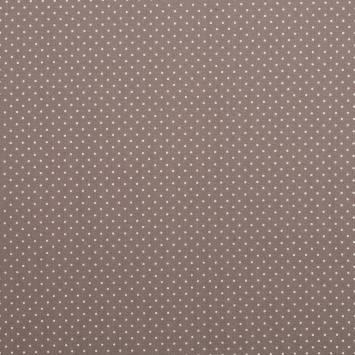 Coton taupe à petit pois 1mm