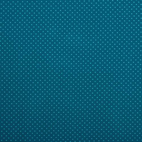 Jersey bleu canard à pois bleu ciel
