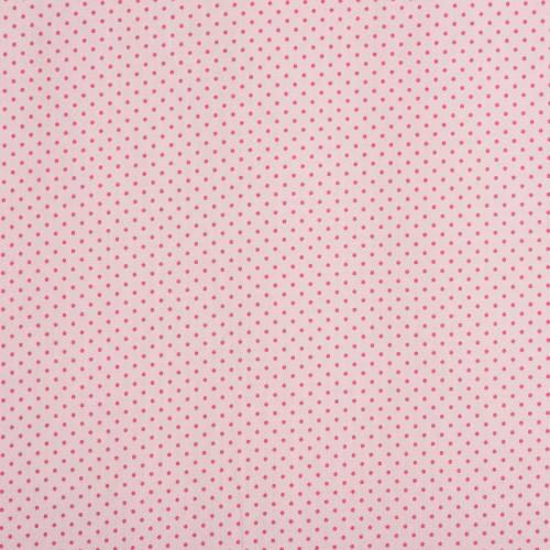 Coton rose pastel à petit pois 1mm fuchsia
