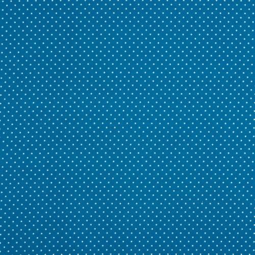 Coton bleu pétrole à petit pois 1mm
