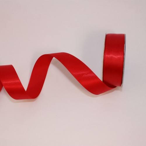 Ruban satin en bobine rouge 20 mm