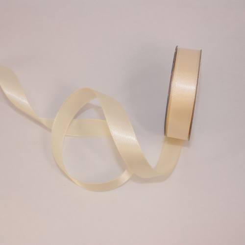 Ruban satin en bobine crème 13 mm