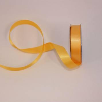 Ruban satin en bobine abricot 13 mm