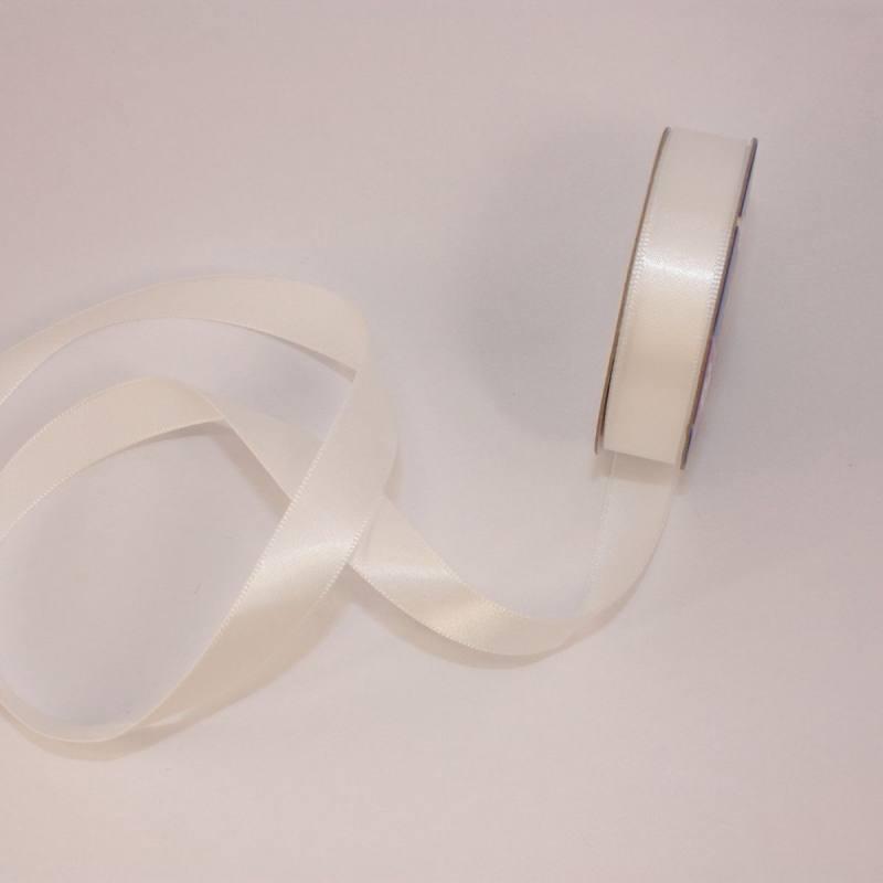 Ruban satin en bobine blanc 13 mm