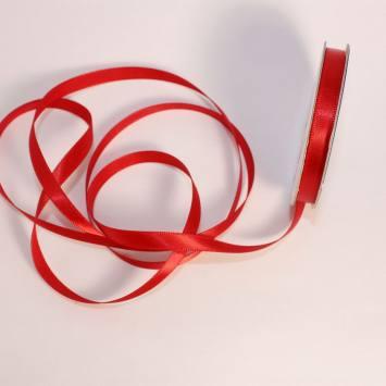 Ruban satin en bobine rouge 6 mm
