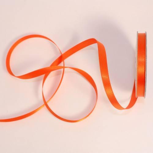 Ruban satin en bobine orange sanguine 6 mm