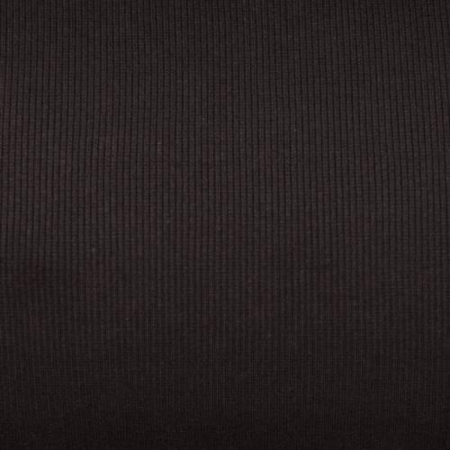 Tissu tubulaire bord-côte maille marron foncé