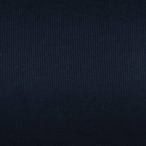 Tissu tubulaire bord-côte maille bleu marine