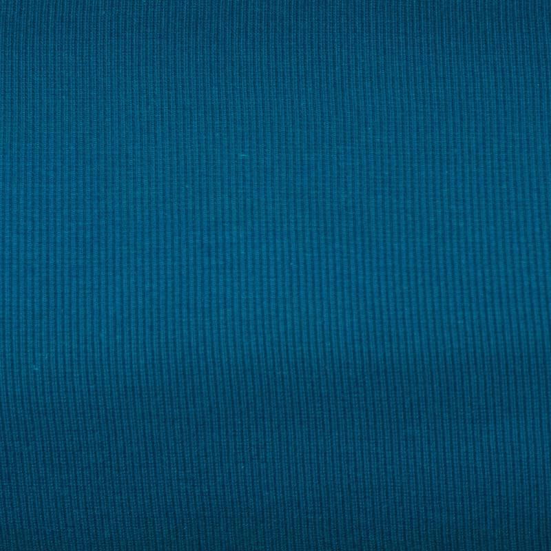 Tissu tubulaire bord-côte maille bleu pétrole