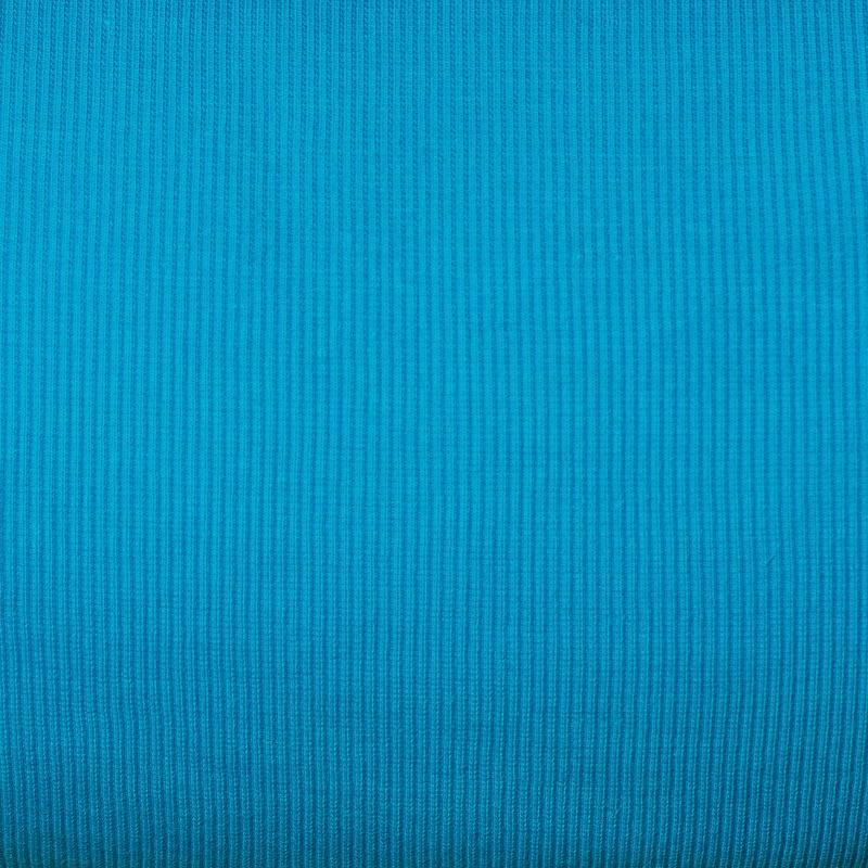 Tissu tubulaire bord-côte maille bleu