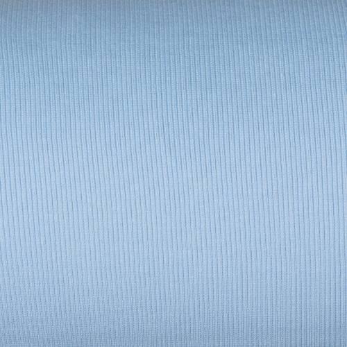 Tissu tubulaire bord-côte maille bleu pastel