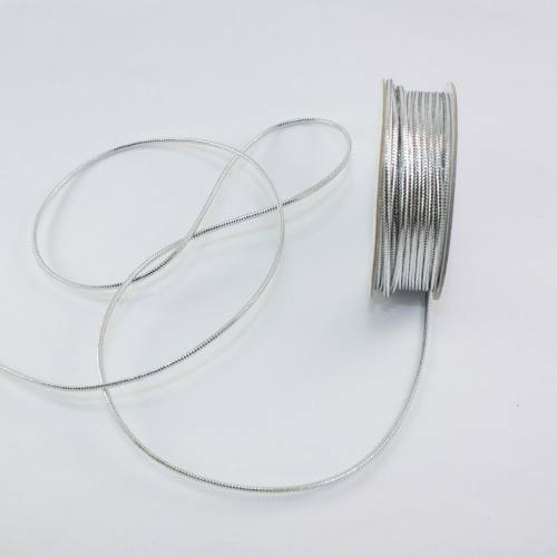 Cordelette en bobine argent1.6 mm
