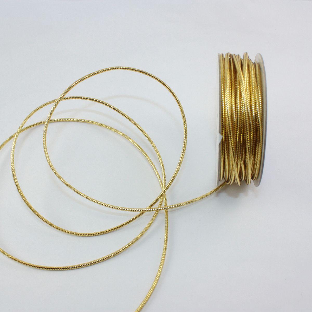 Cordelette en bobine or 1.6 mm