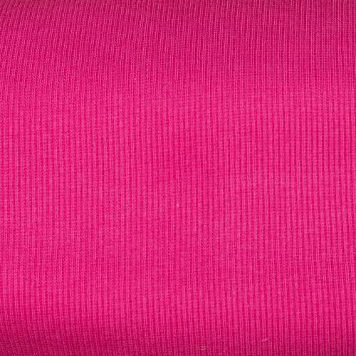Tissu tubulaire bord-côte maille fuchsia