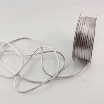 Cordelette en bobine gris 2 mm