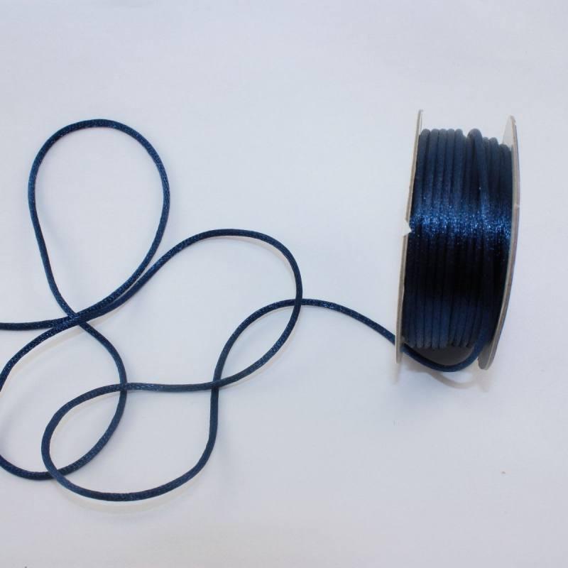 Cordelette en bobine bleu marine 2 mm
