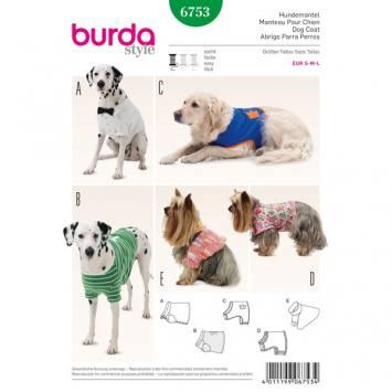 Patron Burda 6753 : Manteau pour chien Taille: S-M-L