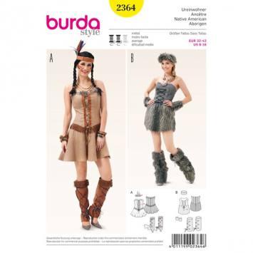 Patron Burda 2364 Carnaval : Oiseau de paradis Taille: 34-44