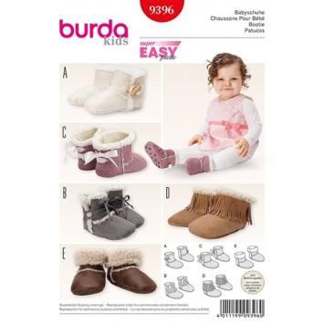Patron Burda 9396 : Chaussons pour bébé
