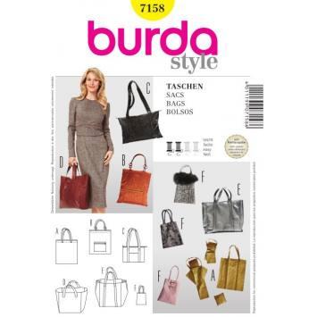 Patron Burda N°7120 style : Sacs