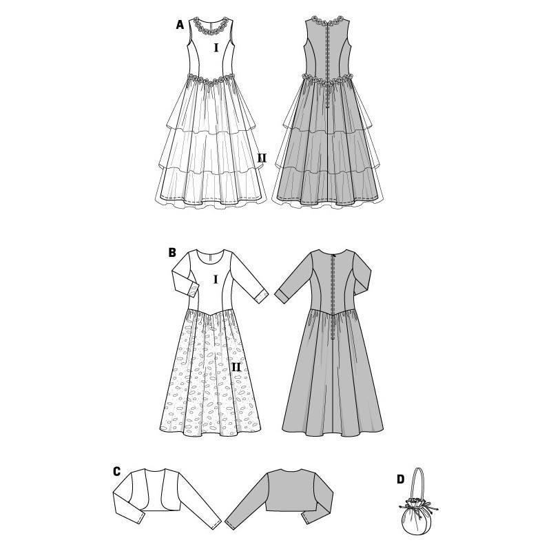 patron burda 9761 robe de f te pour fillette taille 128cm 164cm. Black Bedroom Furniture Sets. Home Design Ideas