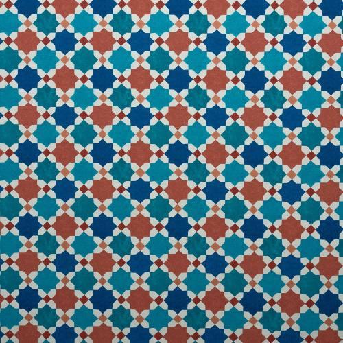 Toile polyester carreaux de ciment impression Cordoue