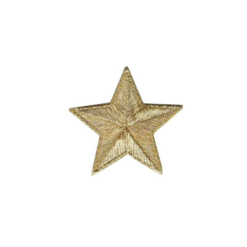 """Ecusson """"Grande étoile dorée"""" thermocollant"""