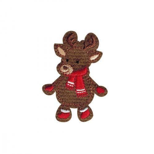 "Ecusson ""Cerf de Noel"" thermocollant"