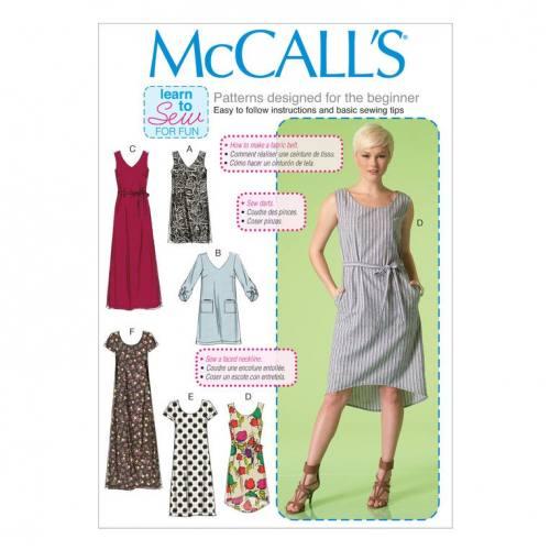 Patron Mc Call's M7120: Robe Taille: 34-42