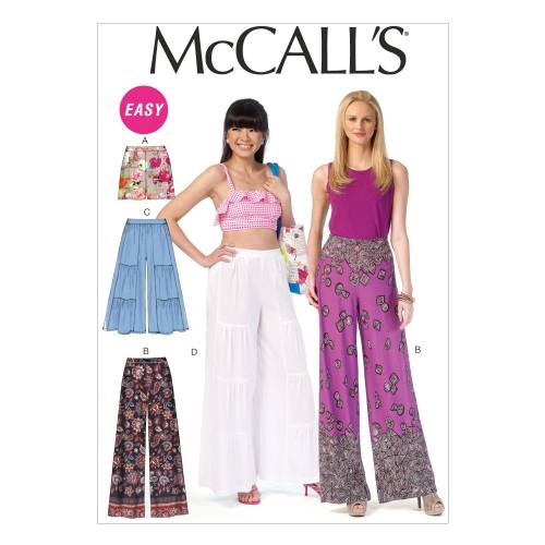 Patron Mc Call's M7164: Short et pantalon Taille: 42-50
