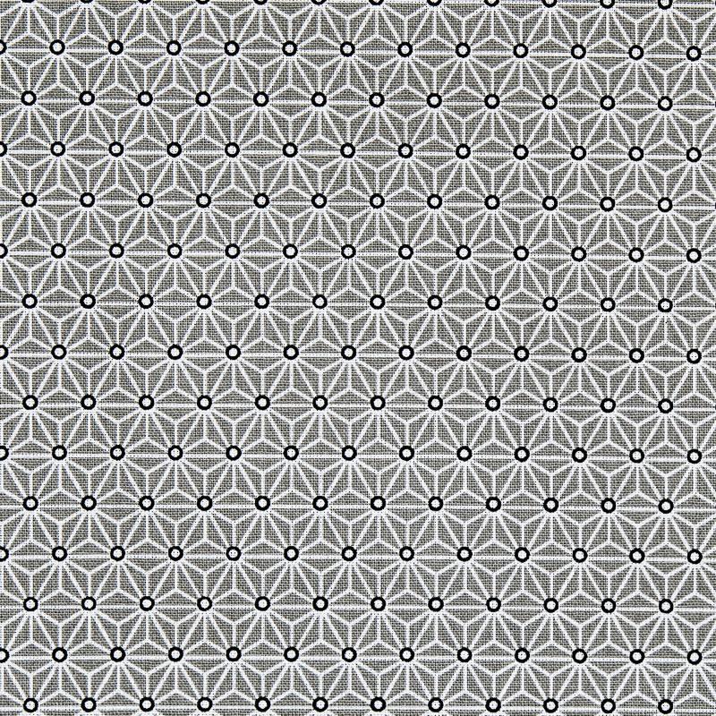 Coton gris petit motif asanoha