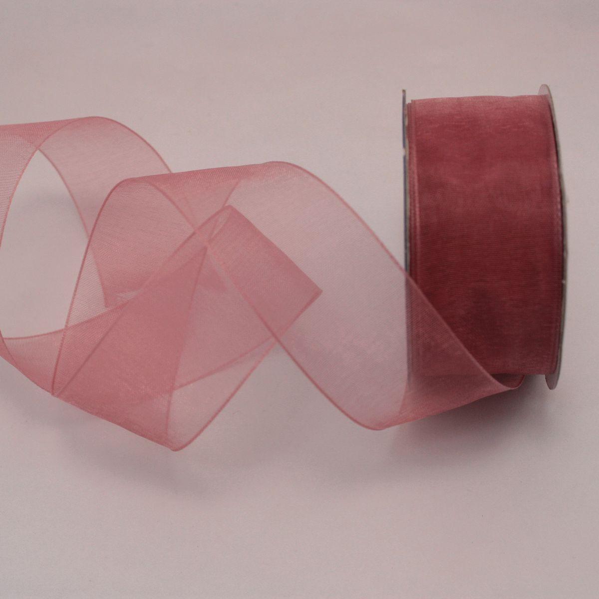 Ruban organdi en bobine parme 25 mm